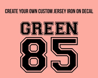 30x28 cm Jersey with request name and desired number sticker wall decal