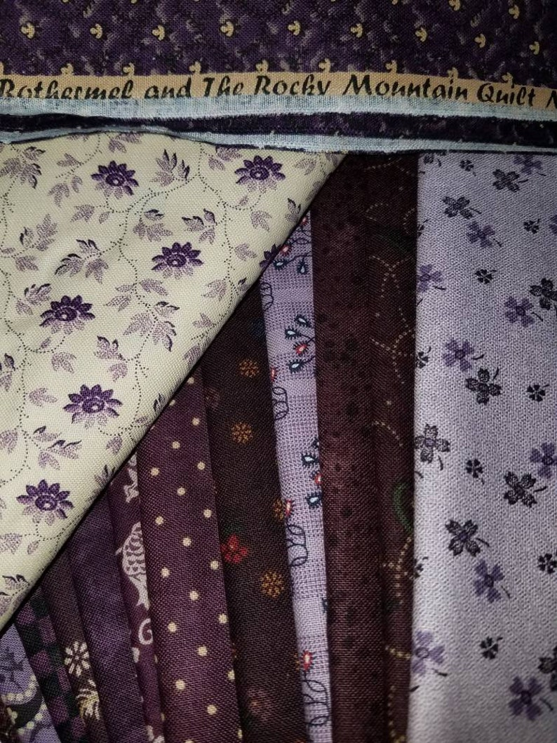 13+ yards Marcus Brothers Kit Rocky Mountain Quilt Museum By Judie Rothermel Purple Plum. pattern 100/% cotton BLACKBERRIES /& CREAM