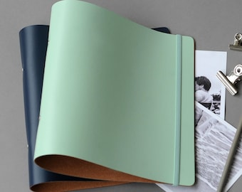 A5 Ring Binder Recycled Leather