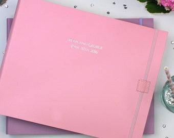 Personalised Large Recycled Leather Wedding Photo Album