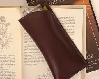 Men's Silk lined Leather Glasses Case