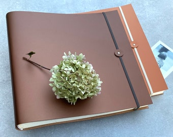 Jumbo Recycled Leather Photo Album - In 29 Colours!