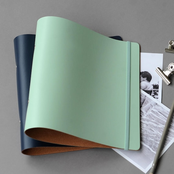 Personalised Recycled Leather A4 Ring Binder