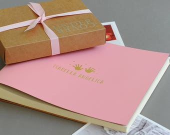 Personalised Baby Photo Album Large Recycled leather