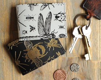 Recycled Leather Bugs Oyster Card Holder