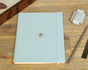 Recycled Leather Bee Address Book