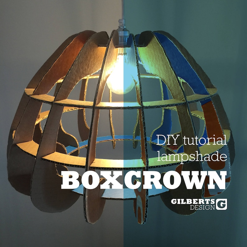 BOXCROWN  DIY Lamp shade Template  Pdf File with image 0