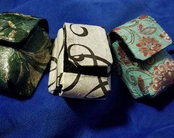 Decoupauged Pocket Watch Case - Small Belt Pouch - Emergency Tea Stash - Steampunk Tea Dueling Accessories - Victorian Tea Time Add A Pocket