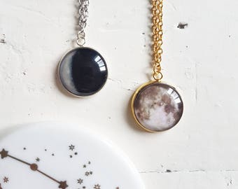 CUSTOM Moon Phase necklace // Birthday Moon Phase Necklace // Moon Necklace// Space Necklace // Personalised Gift