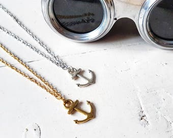 Anchor Necklace // Anchor Jewellery // Nautical Anchor // Nautical Jewellery // Nautical Gift