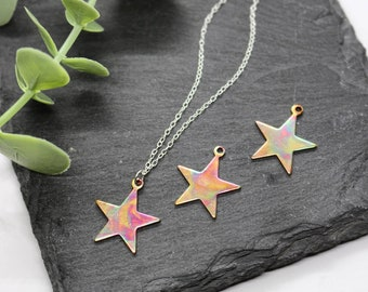 RAINBOW STAR NECKLACE   Copper Star Necklace - Copper Jewellery - Star Jewellery - Star Gift - Constellation - Celestial - Astronomy