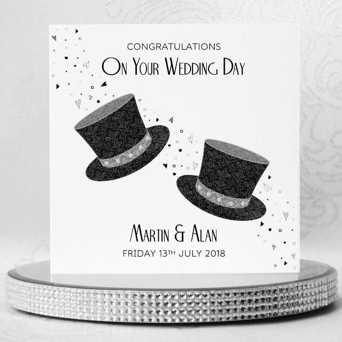 WHITE COTTON CARDS MR /& MR Congratulations Day Civil Partnership Card Wedding Cake