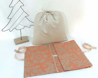 Pouch for travel lingerie, storage pouch for underwear and its dirty laundry bag