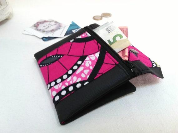 Portefeuille Femme En Wax à La Fois Un étui Pour Papiers Etsy