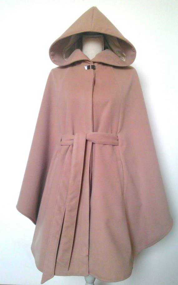cape cape large capuche beige lainage à Etsy femme Manteau en ZTaSxdx