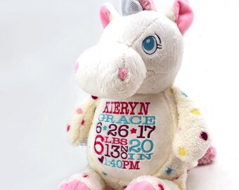 Personalized Stuffed Animal with Birth Information  84c12a288