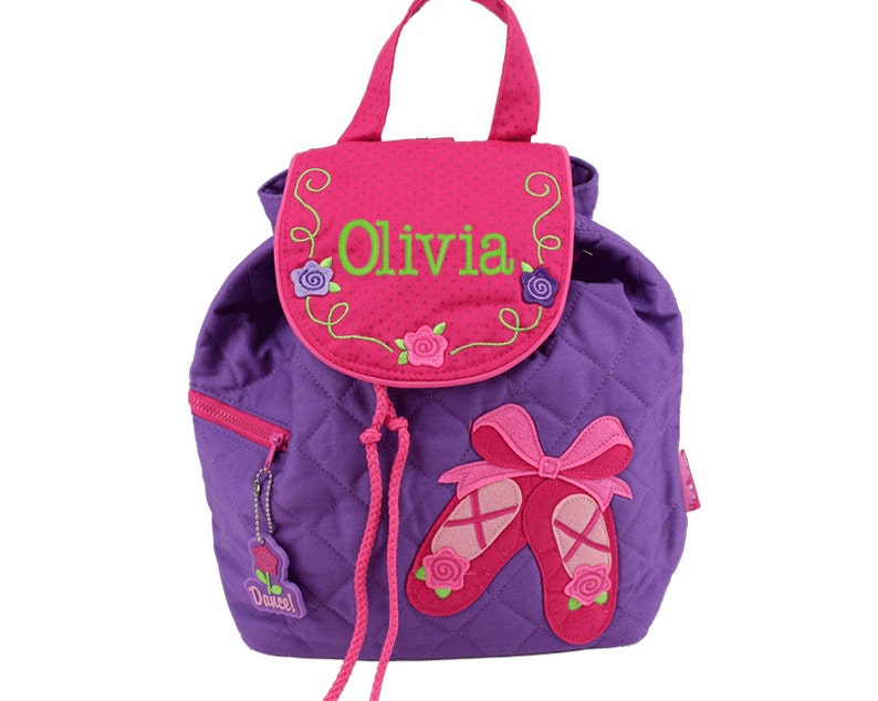 Personalized Toddler Backpack  Ballet Dance  Overnight Church image 0
