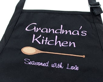 Mother's Day | Grandma Kitchen Apron | Personalized Grandma Gift | Grandchildren's Names | Completely Personalized by her Grandchildren!