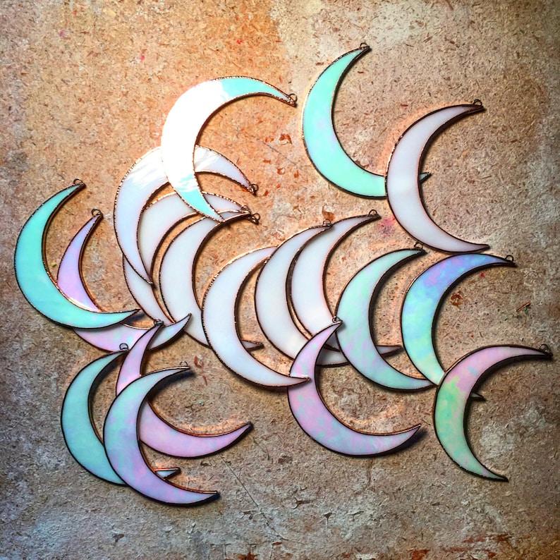 Iridescent Crescent Moon