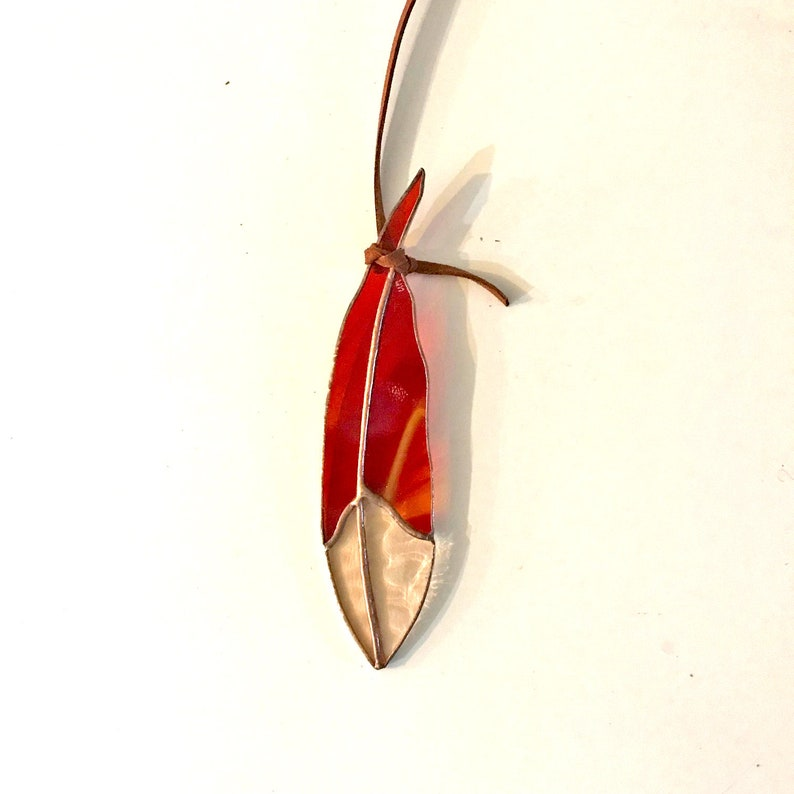Mini Classic Stained Glass Feather