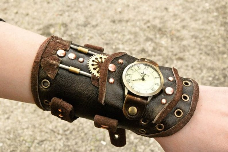 Steampunk Wrist Watch Steampunk Wristband Steampunk Etsy