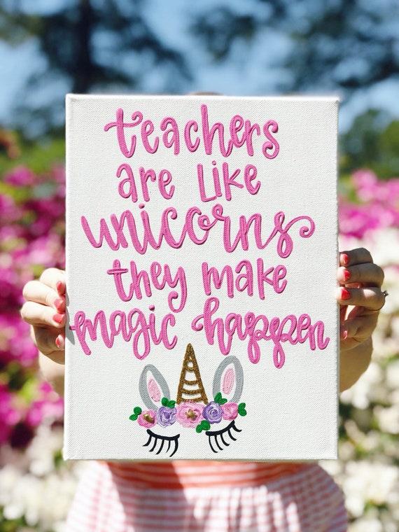 unicorn quote sign teacher quote gift for teacher