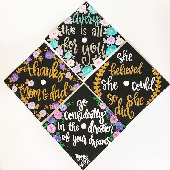 graduation cap custom graduation cap personalized grad cap etsy