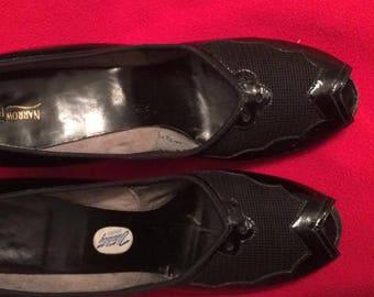 1940s +/- Black Peep Toe Pumps