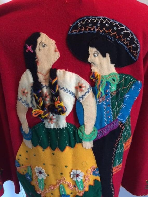 Unbelievable 1940s Arfida Mexican Tourist Jacket