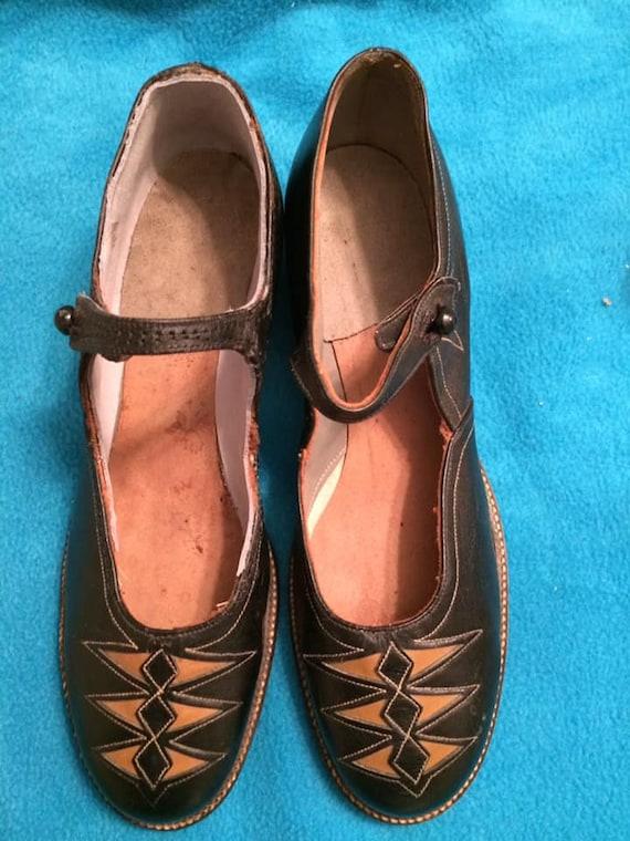 1920s Deco Design Maryjanes, ladies shoes