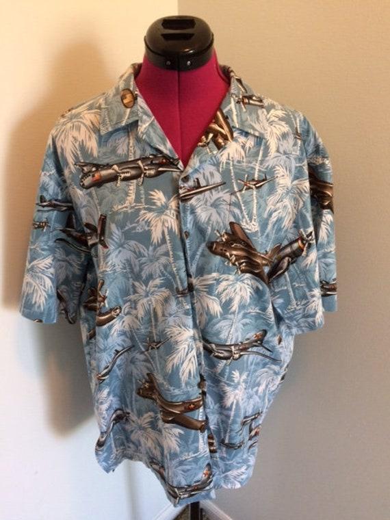 Vintage Kalaheo Shirt, size L  - WWII Bombers!