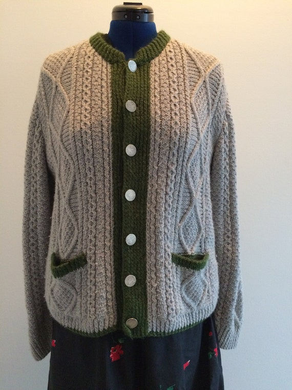 Trachten style Hand-knit Sweater - image 1