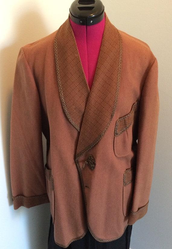 Edwardian Wool Smoking Jacket