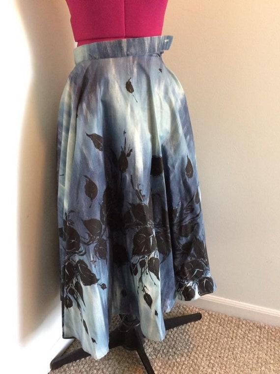 1950s Border Print Circle Skirt