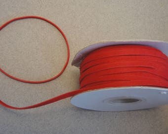 2 m red suede cord