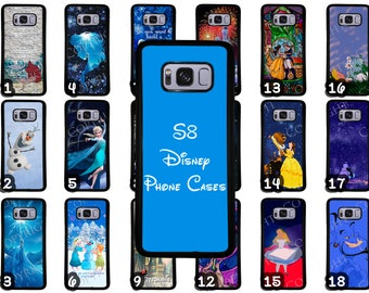 galaxy s8 case etsysamsung galaxy s8 \u0026 samsung galaxy s8 plus disney phone case choose from 70 designs beauty and the beast little mermaid peter pan more