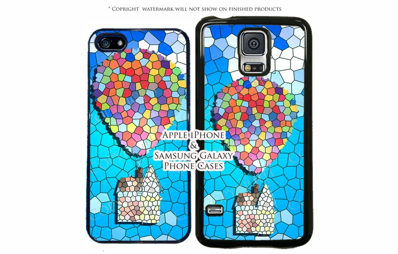 sale retailer 736cb 18336 Disney Stained Glass Up Phone Case For Samsung Galaxy S10, S10 Plus, S10E,  3A, S6, Note 8, S5, S4, LG G7, G5, G4 Google Pixel, Pixel XL