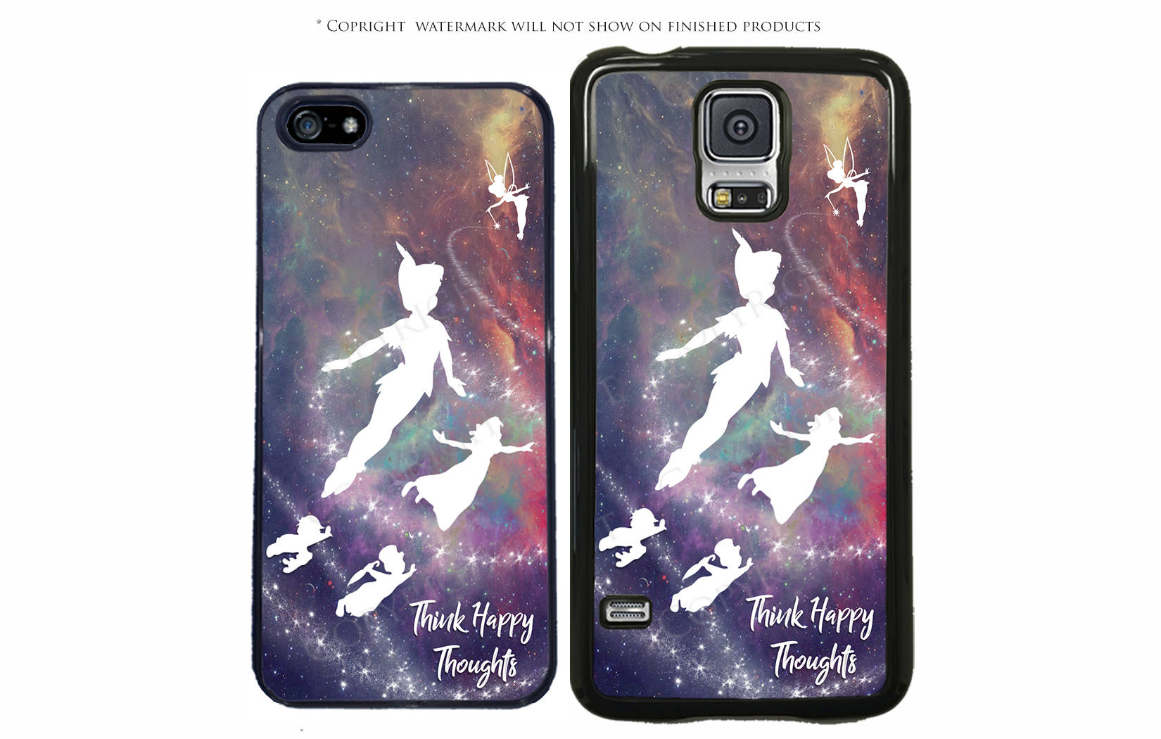 best sneakers a2b80 23954 Disney Peter Pan Think Happy Thoughts Phone Case For Samsung Galaxy S10,  S10Plus, S10E, 3A, S7 Edge, Note 8, LG G7, G7, Google Pixel 3, 3 XL