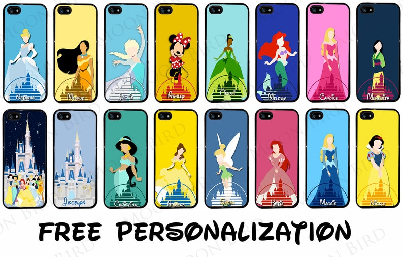 huge selection of 67326 adfd4 Disney Castle with Any Disney Princess Phone Case for Galaxy S10, S10 Plus  S10E S8 S7 Apple iPhone 7, 7 Plus, iPhone 8, 5, LG, Google Pixel