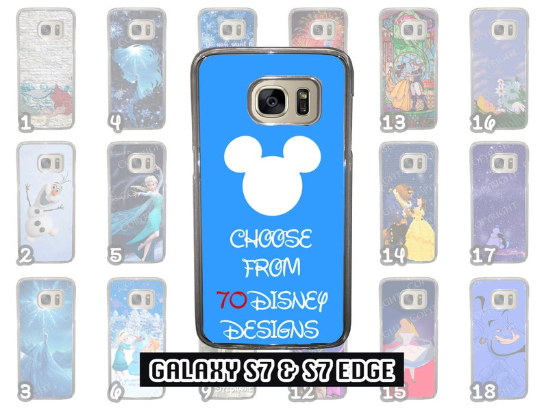 online store ccfdc 2abc2 Samsung Galaxy S7 & Samsung Galaxy S7 Edge Disney Phone Case Choose from 70  Designs Beauty and the Beast Little Mermaid Peter Pan + More