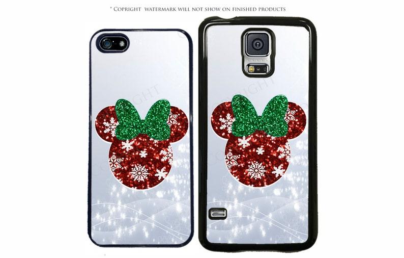 meet 7ac89 5d7fc Disney Minnie Mouse Christmas Phone Case for Apple iPhone 7, 7 Plus, iPhone  8, Galaxy S10, S10 Plus S10E S8 3A, LG, Google Pixel, XL, Note 8