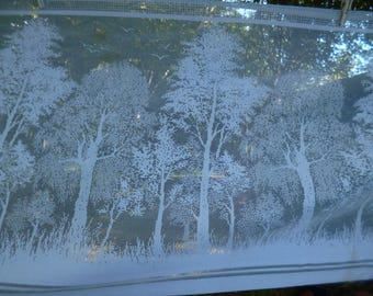 Pretty French White Vintage Net Cafe Curtain. Trees  66 x 2.5 m ide