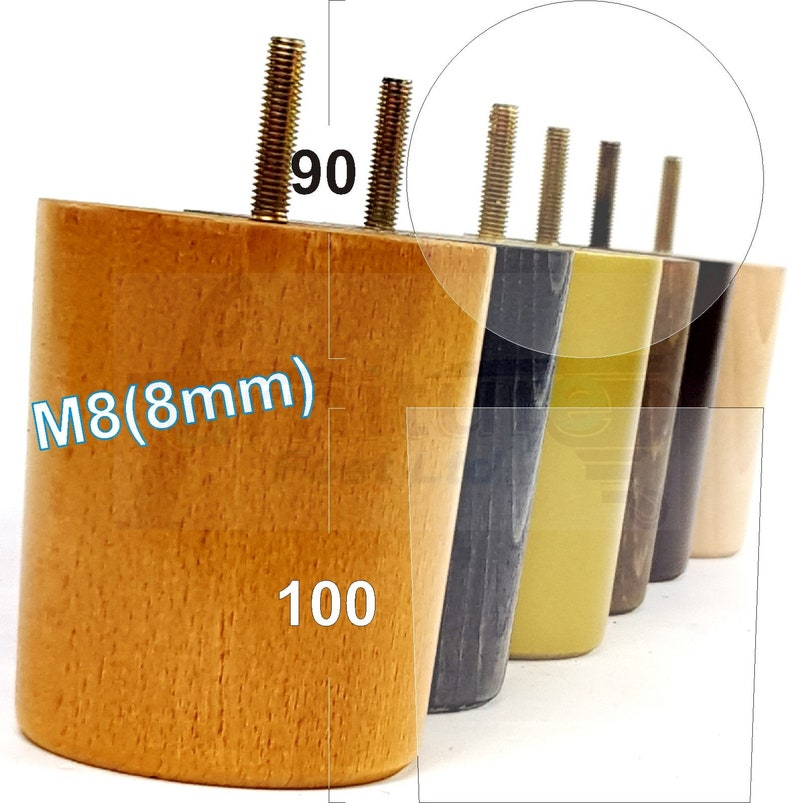 8mm Chairs 4x Wooden Furniture Feet Replacement Legs For Sofa Settee M8