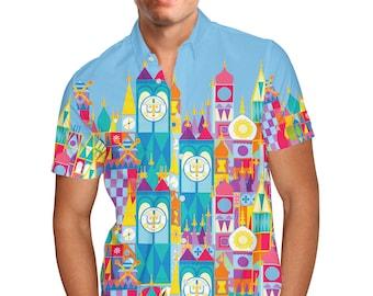 A Pirate Life Disney Inspired Mens Button Down Short Sleeve Shirt
