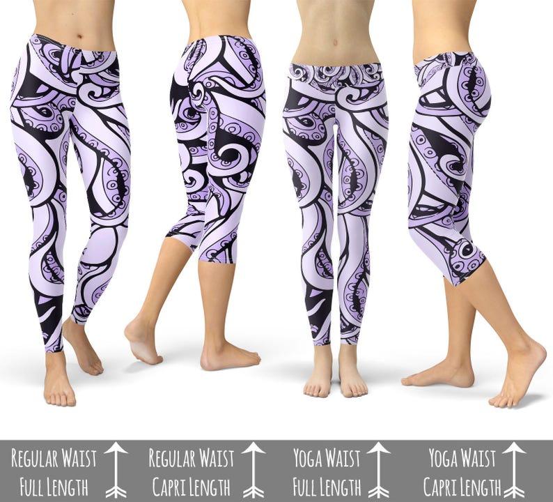 fe0fbc3dce2a33 Ursula Disney Villains Inspired Leggings in Capri or Full | Etsy