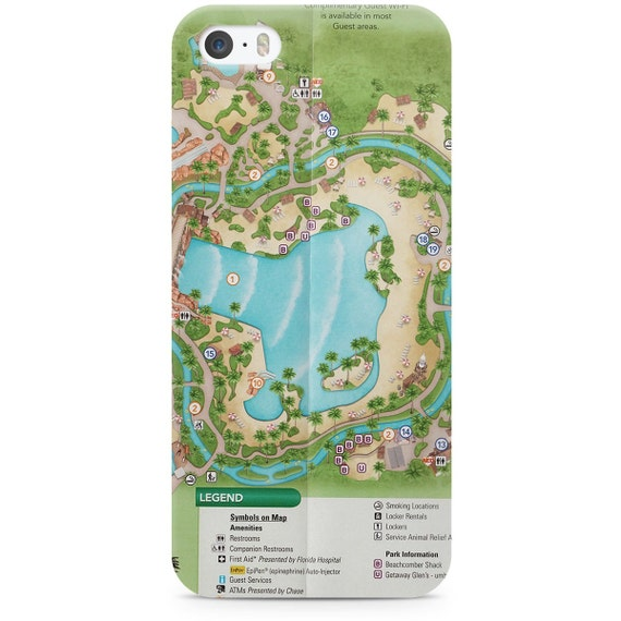 Typhoon Lagoon Map Disney World Phone Case for iPhone & | Etsy
