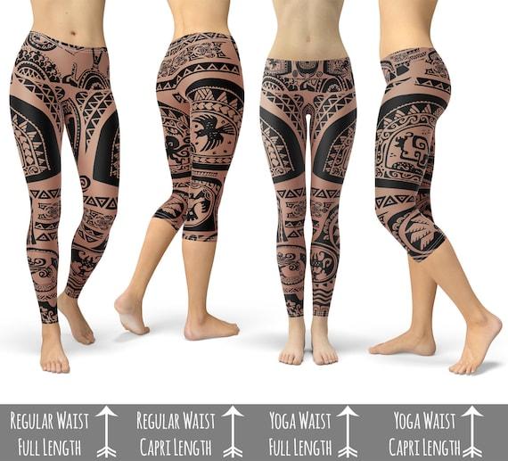 Maui Tattoos Inspired Disney Moana Sport Leggings Full Length