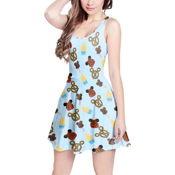 Snack Goals Disney Parks Inspired Sleeveless Dress Flared Short