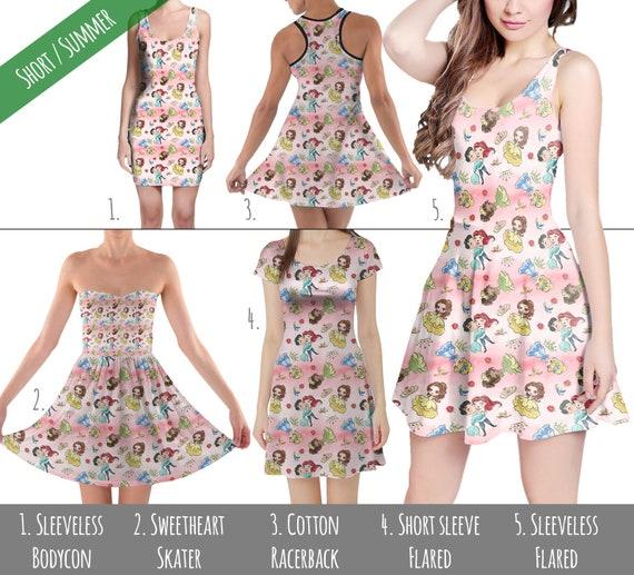 5XL Short  Summer Styles Minnie Best Day Ever Disney Inspired Dress in XS