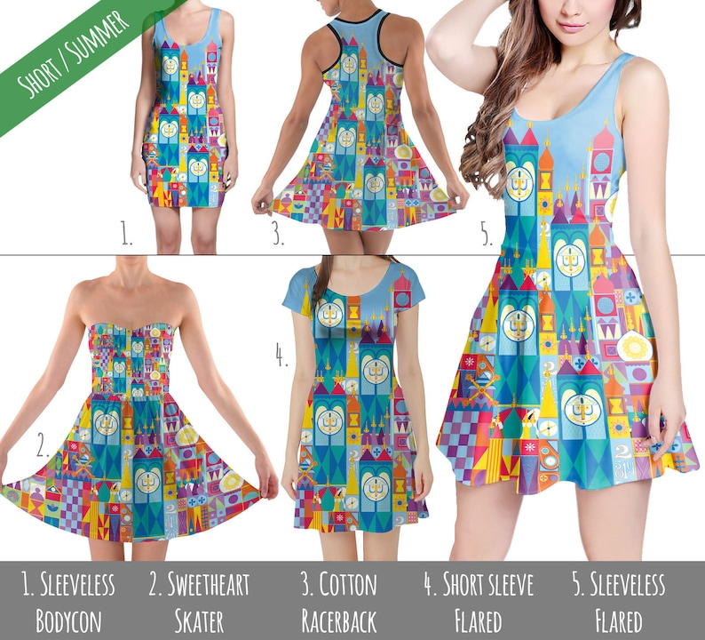 927be0394f It s A Small World Disney Parks Inspired Dress in XS